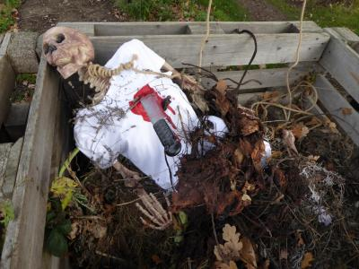 Northfields allotment halloween
