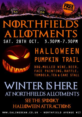 Northfields allotments halloween trail 28 October 2017
