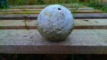 A strange object found in the ground at Northfields Allotment