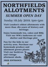 Northfields allotments summer open day 7th July 2019