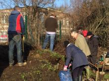 Northfields allotment February volunteer day