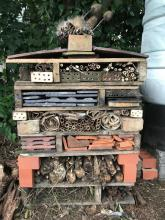 Bug Hotel on the Fruit Garden at Northfields Allotments